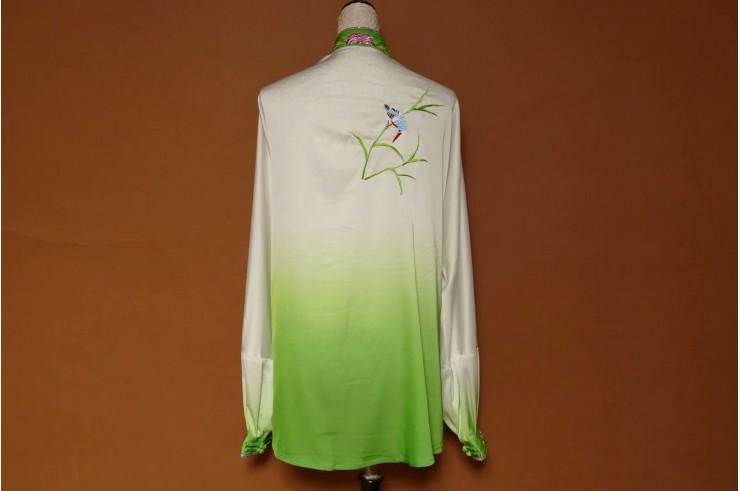 Tai Chi Uniform Embroidered Flower 3
