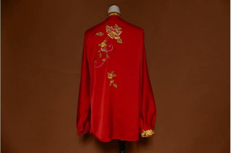 Tai Chi Uniform Embroidered Flower 6