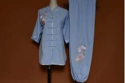 Tai Chi Uniform Embroidered Flower 10